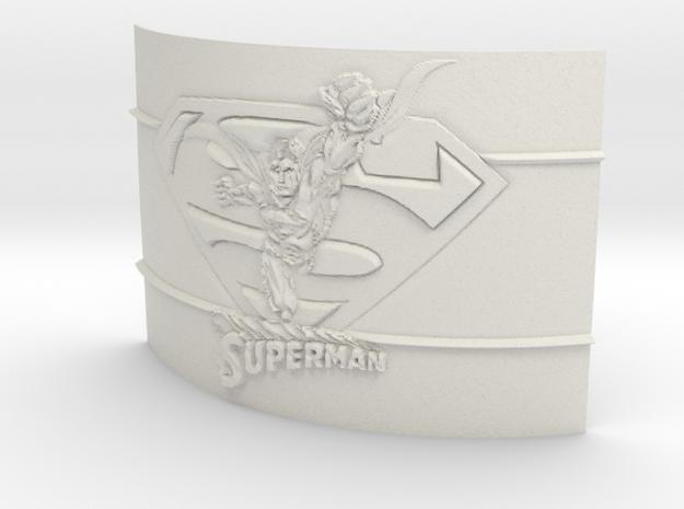 Superman Curved Lithophane in White Natural Versatile Plastic