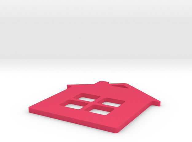 Home Key chain in Pink Processed Versatile Plastic