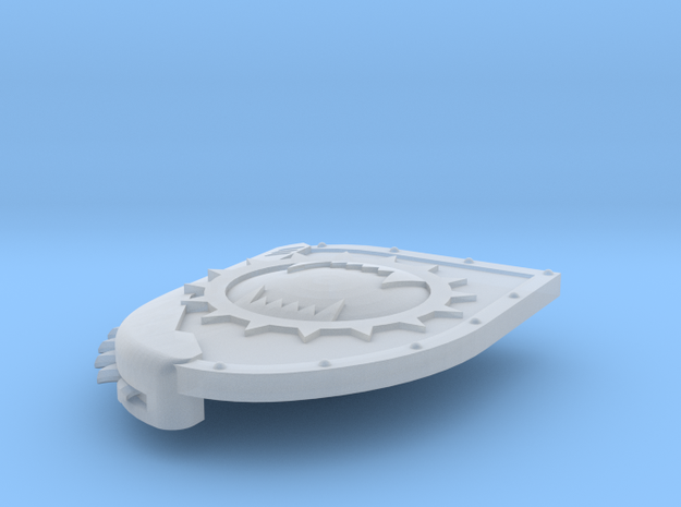 Left-handed Chainshield (Angry Maw design) in Smooth Fine Detail Plastic: Small