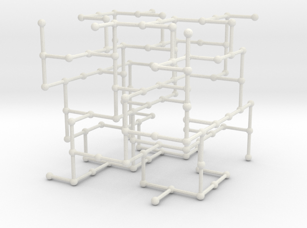 Haugland's grid subgraph no. 2 in White Natural Versatile Plastic