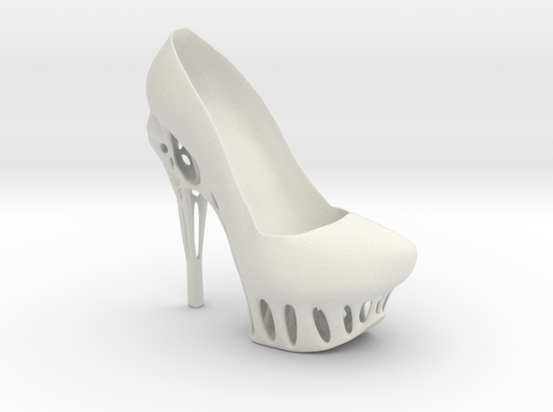 Right Biomimicry Heel in White Natural Versatile Plastic