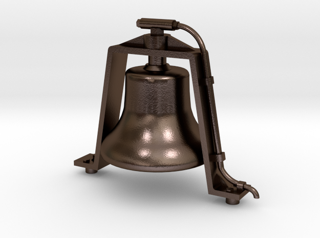 """Bronze 1.5"""" Scale Air Powered Bell  in Polished Bronze Steel"""
