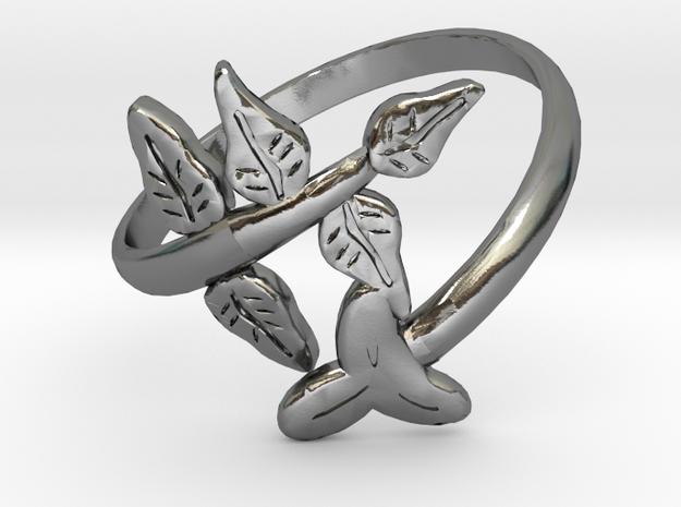 Leaf Ring in Polished Silver