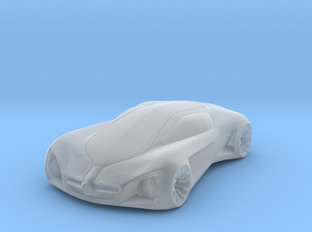 3D Printed Concept Car in Smooth Fine Detail Plastic