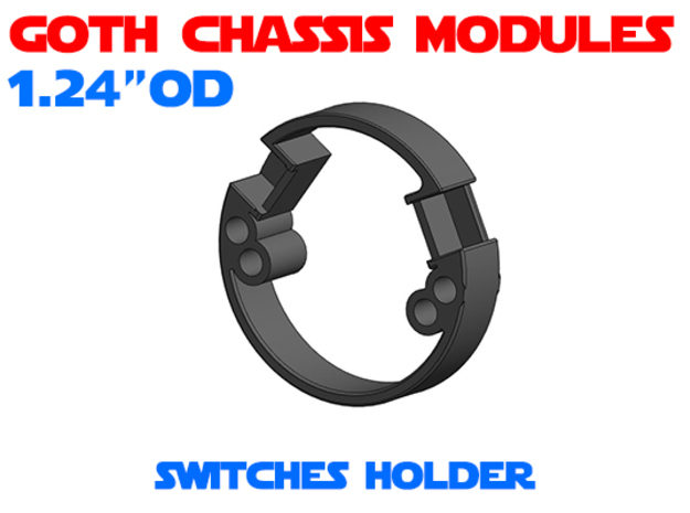 GCM124 - Tactile Switches Holder in White Natural Versatile Plastic