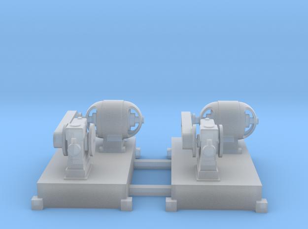 Motor-Generator-Satz (V6) mit Transmission 2erSet  in Smooth Fine Detail Plastic