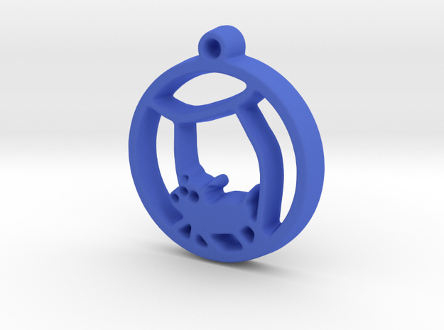 Hamster Ball Pendant in Blue Processed Versatile Plastic