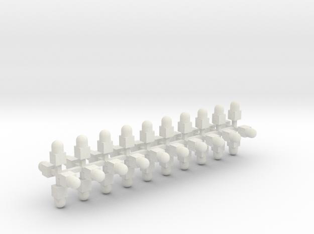 Sächsisches Grenzzeichen 40erSet TT 1:120 in White Natural Versatile Plastic