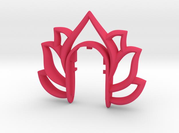 LOTUS KEY FOB  in Pink Processed Versatile Plastic