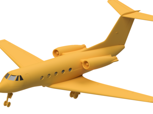046C Gulfstream II 1/144 WSF in White Natural Versatile Plastic