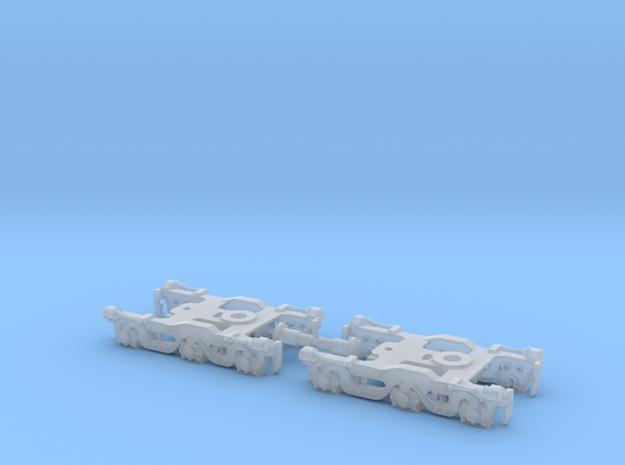 Alco Dummy Tri-Mount Trucks - 1:120 - TT Scale in Smooth Fine Detail Plastic