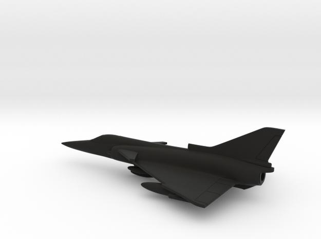 IAI Kfir (w/o landing gears) in Black Natural Versatile Plastic: 1:200