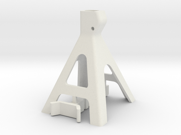 JaBird RC 10th Scale Jack Stand in White Natural Versatile Plastic