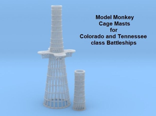 1/350 Cage Masts for US Navy Battleships