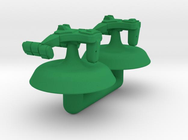 Remoran D'Railer Battle Frigate 1:20000 in Green Processed Versatile Plastic
