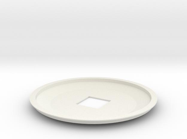 1-537 Enterprise Saucer Top in White Natural Versatile Plastic