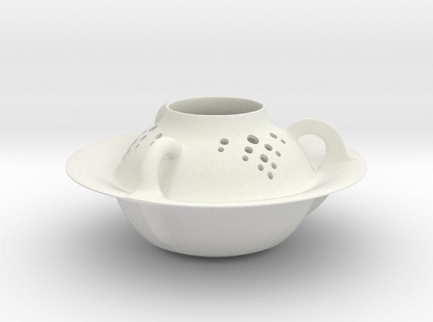 Vase 1851Arc in White Natural Versatile Plastic