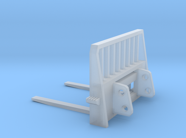 1:50 Pallet Forks for New Holland C238 in Smooth Fine Detail Plastic