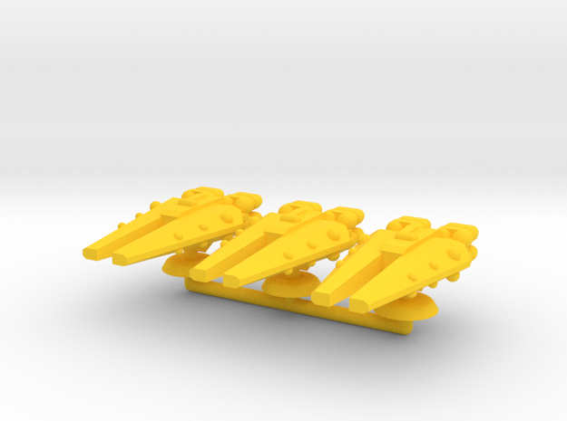 Delta Generic Large Warship Squadron in Yellow Processed Versatile Plastic