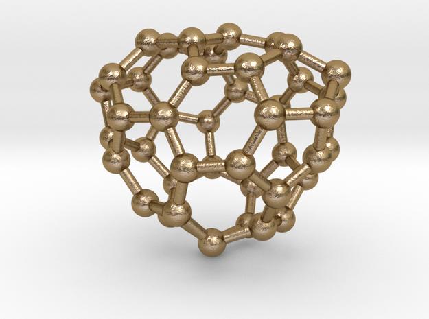 0654 Fullerene c44-26 c1 in Polished Gold Steel