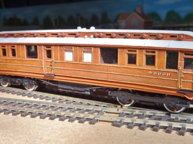GN Directors Saloon Body, OO 3d printed A completed coach.