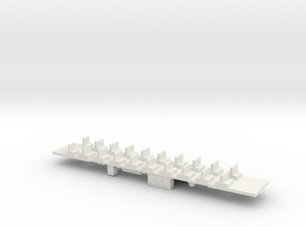 BottomTrailer ER 1 electric train 1:160 scale in White Natural Versatile Plastic