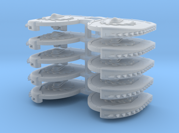 Mixed Chainshield (Buzzsaw Droplet design) in Smooth Fine Detail Plastic: Large