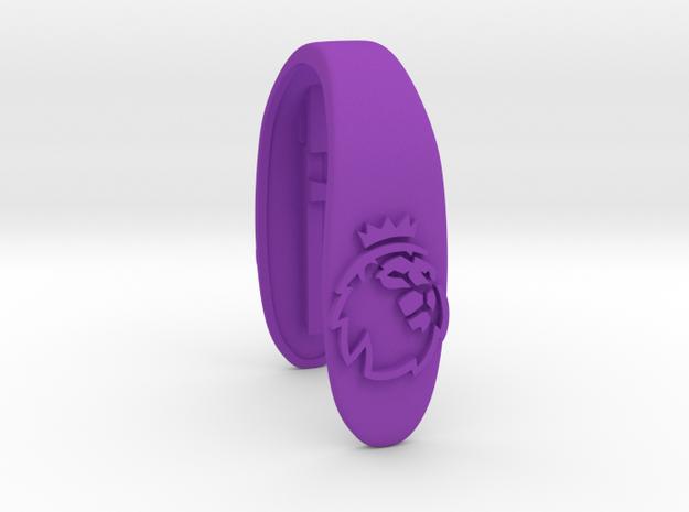 LEO key fob  in Purple Processed Versatile Plastic