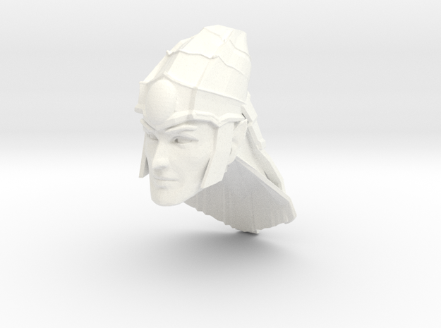 head elf 2 with helmet in White Processed Versatile Plastic