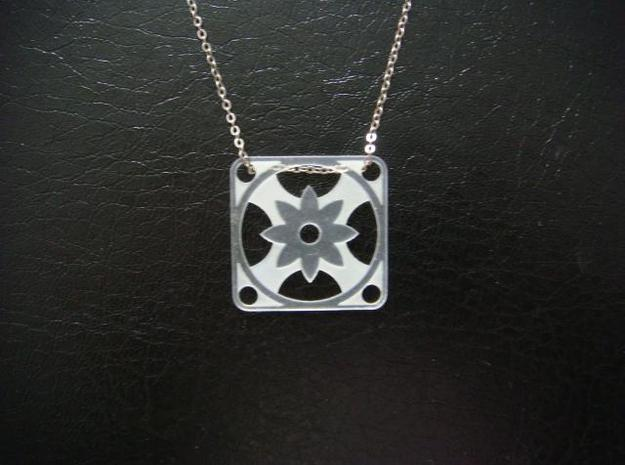 Square Pendant or Charm - Eight Petal Supported 3d printed FUD - Chain not included