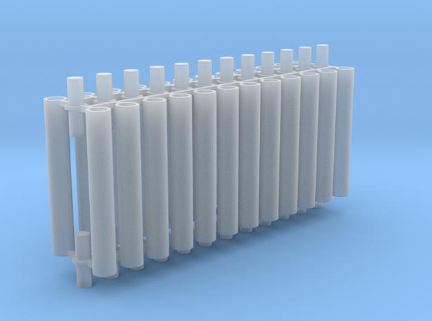 Rauchabzug Rohr 90mm 8erSet 1:120 TT in Smooth Fine Detail Plastic