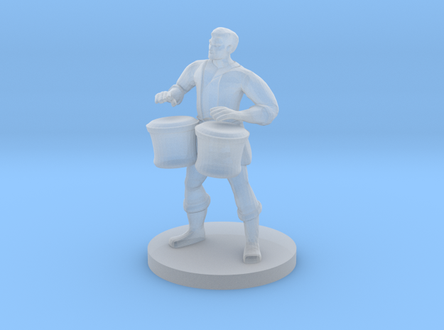 Male Human Bard with Bongos in Smooth Fine Detail Plastic
