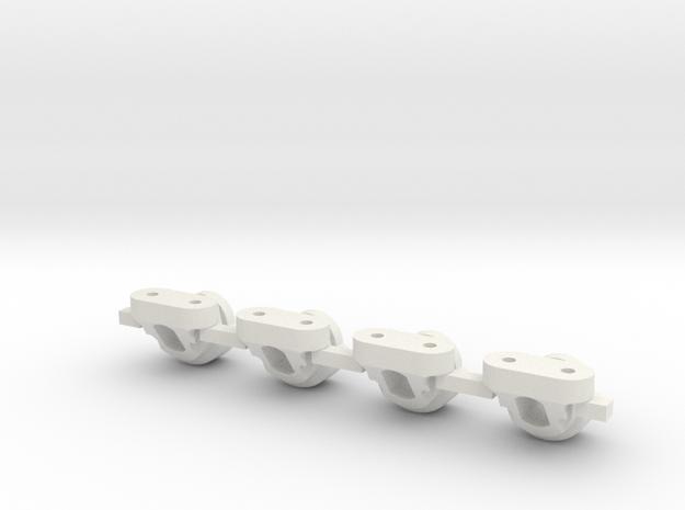 V2 Toyzuki Body Mount Version 2 in White Natural Versatile Plastic