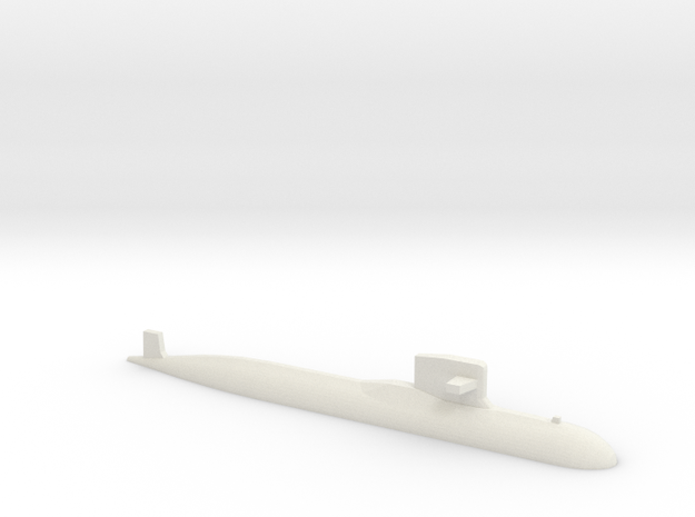 PLA[N] 093B Submarine, 1/1250 in White Natural Versatile Plastic