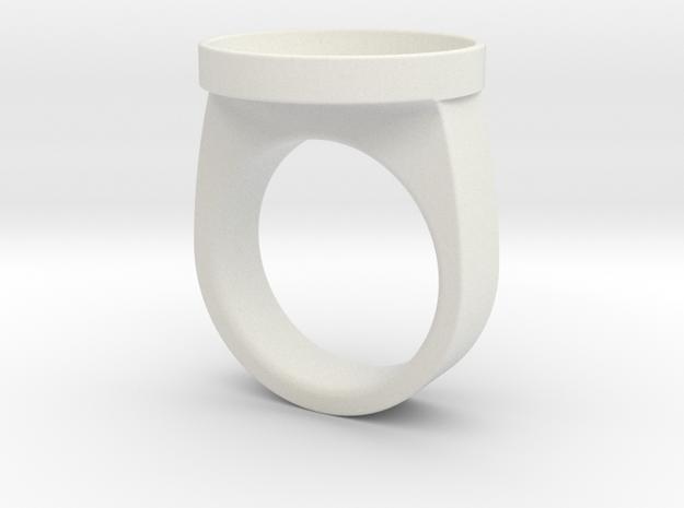 Custom ring 76 US 10 v2 in White Natural Versatile Plastic
