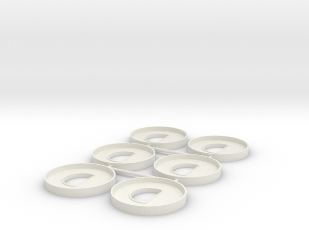 HIC D Ring Piped in White Natural Versatile Plastic