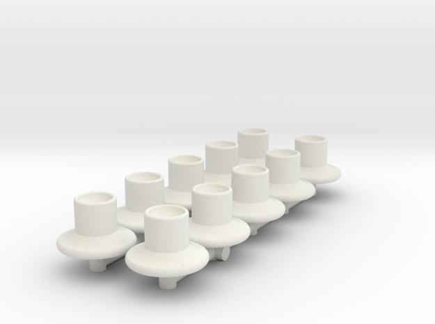 HIC Nipples V2 Piped in White Natural Versatile Plastic