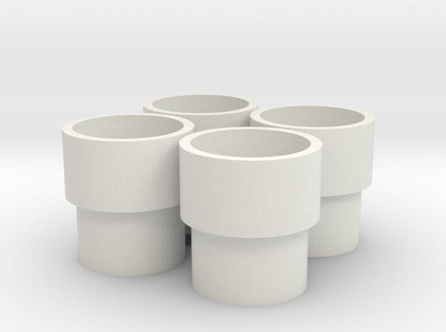 HIC Tub Piped in White Natural Versatile Plastic