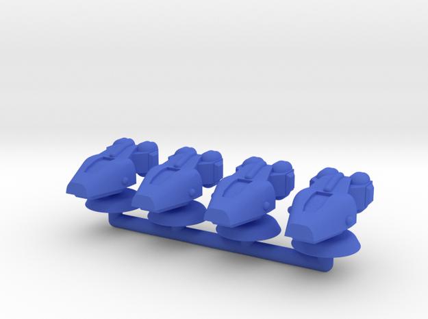 Lambda Generic Small Warship Squadron in Blue Processed Versatile Plastic
