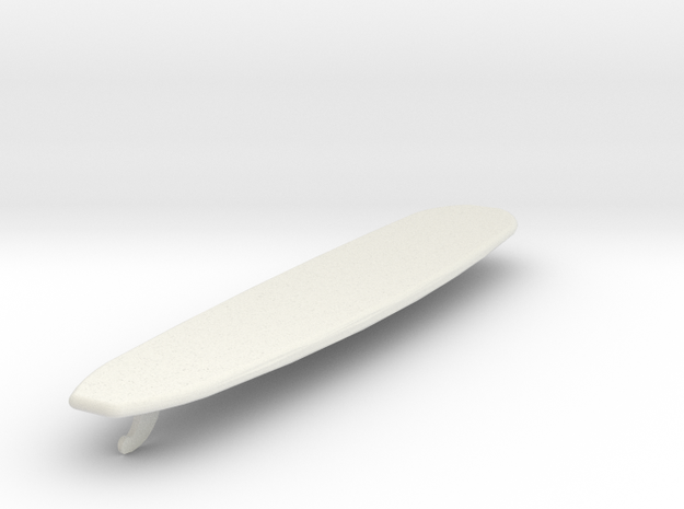 1 /10 Scale Longboard in White Natural Versatile Plastic