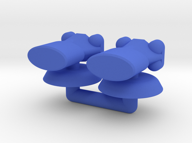 Alpha Generic Small Transport Squadron in Blue Processed Versatile Plastic