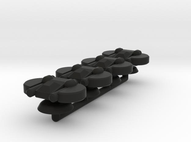 Indigo Generic Small Warship Squadron in Black Natural Versatile Plastic
