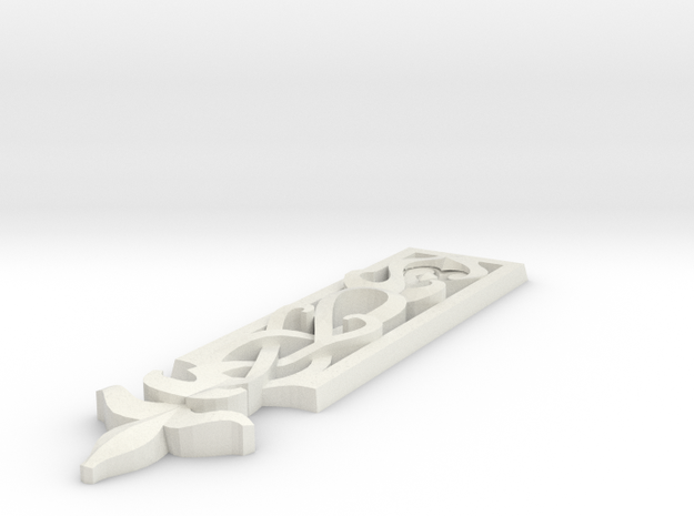 Carved decor verical 003 in White Natural Versatile Plastic