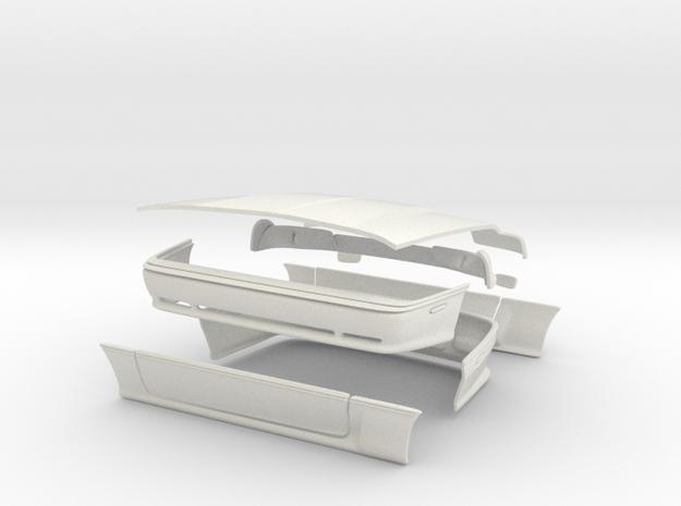 1993 DODGE DAYTONA IROC CONVERSION PARTS (6% SMALL in White Natural Versatile Plastic