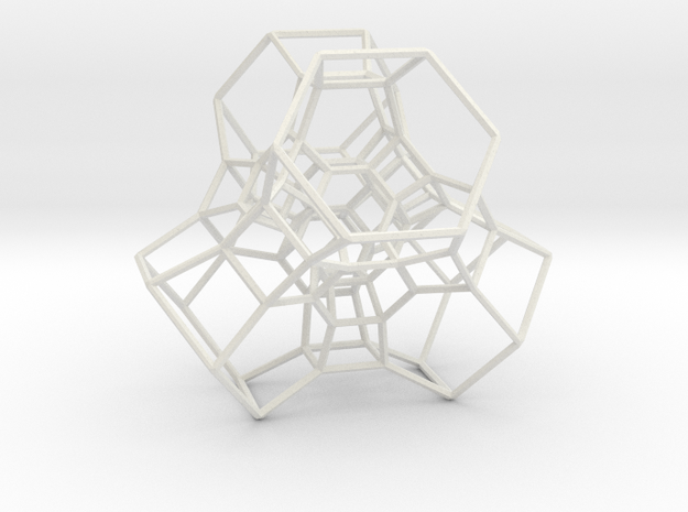 Permutohedron of order 5 (partial) in White Natural Versatile Plastic