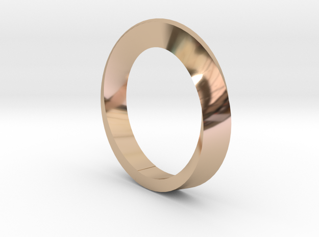 Rotating bracelet in 14k Rose Gold: Small