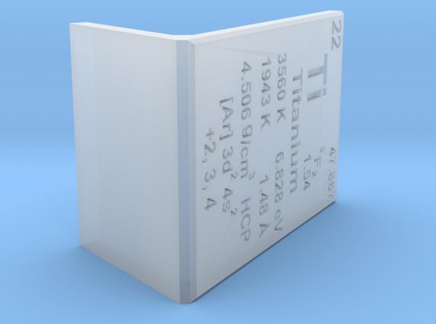 Titanium Element Stand in Smooth Fine Detail Plastic