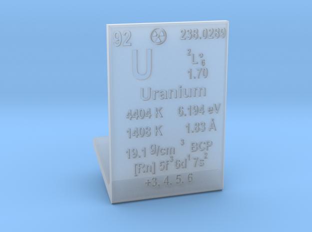 Uranium Element Stand in Smooth Fine Detail Plastic