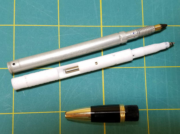 Sheaffer Stratowriter to D1 Refill Adapter in White Natural Versatile Plastic