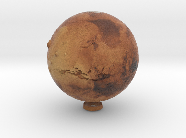 Mars with relief 1:150 million in Natural Full Color Sandstone
